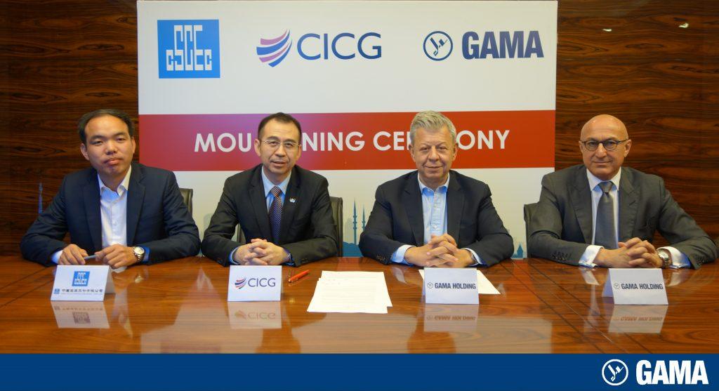 GAMA, Üç Katlı Büyük İstanbul Tüneli için Dünyanın En Büyük Firmalarından Çinli China Construction Third Engineering Bureau Co., Ltd ile Mutabakat Zaptı İmzaladı